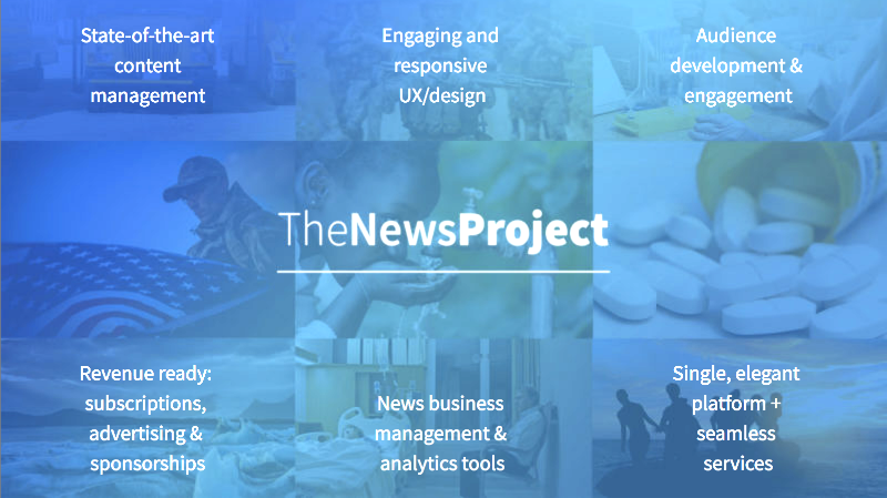 The News Project product tour